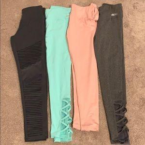 4 pairs Justice sz 14/16 leggings